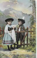 AK 0130  Kinder In Tracht - Künstlerkarte Um 1903 - Portraits