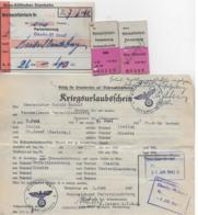 AK 0130  Graz-Köflacher Eisenbahn - Wehrmachtfahrkarten Mit Kriegsurlauberschein Juni 1942 - Bahn