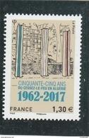 FRANCE 2017 CINQUANTE CINQ ANS DU CESSEZ LE FEU EN ALGERIE  NEUF - YT 5133 -                                 TDA80A - France