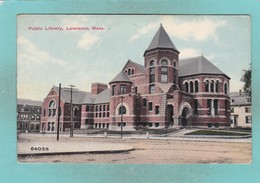 Small Post Card Of Public Library,Lawrence,Massachusetts,United States ,Y77. - Lawrence