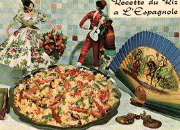 Recette De Cuisine Le Riz A L'espagnole  CPM Ou CPSM - Recettes (cuisine)