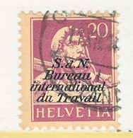 SWITZERLAND  3 O 9   (o)  LABOR  UNION  TRAVAIL - Dienstzegels