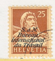 SWITZERLAND  3 O 12   (o)  LABOR  UNION  TRAVAIL - Dienstzegels