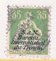 SWITZERLAND  3 O 15   (o)  LABOR  UNION  TRAVAIL - Dienstzegels