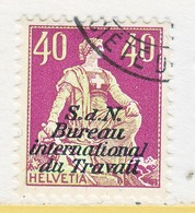 SWITZERLAND  3 O 17   (o)  LABOR  UNION  TRAVAIL - Dienstzegels