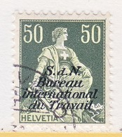 SWITZERLAND  3 O 18   (o)  LABOR  UNION  TRAVAIL - Dienstzegels