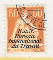 SWITZERLAND  3 O 19   (o)  LABOR  UNION  TRAVAIL - Dienstzegels