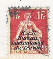 SWITZERLAND  3 O 22   (o)  LABOR  UNION  TRAVAIL - Dienstzegels