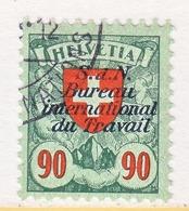 SWITZERLAND  3 O 27 A  No Grill    (o)  LABOR  UNION  TRAVAIL - Dienstzegels
