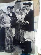 NULE COSTUMI COSTUME SARDO COPPIA E FISARMONICA RAGAZZE  V1955  HA7384 - Cagliari