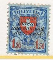 SWITZERLAND  3 O 29 A  No Grill    (o)  LABOR  UNION  TRAVAIL - Dienstzegels