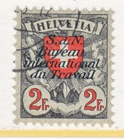 SWITZERLAND  3 O 30 A  No Grill    (o)  LABOR  UNION  TRAVAIL - Dienstzegels