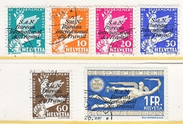 SWITZERLAND  3 O 32-37   (o)  LABOR  UNION  TRAVAIL - Dienstzegels