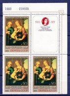 USSR 1983 500th Birth Of Raphael. 3v + Label** - 1923-1991 USSR