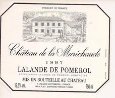 LALANDE-DE-POMEROL CHATEAU DE LA MARICHAUDE 1997 (4) - Bordeaux
