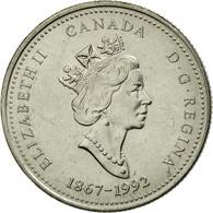 Monnaie, Canada, Elizabeth II, 25 Cents, 1992, Royal Canadian Mint, Ottawa, TTB - Canada