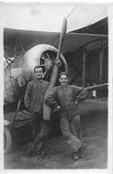 Photo Originale - Avion Aviateurs Mécaniciens - Années 1910 / 1930 - - Aviation