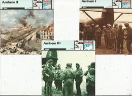 MILITARIA , 1944 , Opération ARNHEM , S'emparer Des Ponts En Hollande , LOT DE 3 FICHES ILLUSTREES - Histoire