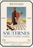 SAUTERNES  HEDIARD 1987 '4) - Bordeaux