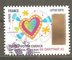 FRANCE 2017 Adhésif  Y T N ° 1497  Oblitéré Cachet Rond - France