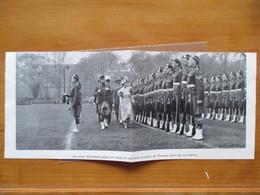 1939 CANADA  Visite De La REINE Elisabeth - Regiment Ecossais De Tonroto - Coupure De Presse Originale (encart Photo) - Documents Historiques