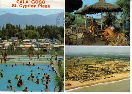 66 Saint St Cyprien Plage Camping Cala Gogo En 1995 Vue Générale Piscine Terrasse Citroën GS - Saint Cyprien