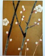 #12  Japanese Plum - Gold-Bronze Color - Japan Big Size Postcard - Arbres