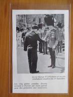 1939 CANADA  Visite Du Roi George VI Aux Regiments De  Tonroto - Coupure De Presse Originale (encart Photo) - Documents Historiques
