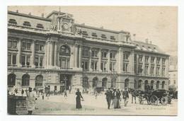 Bruxelles Grand Poste Attelage Cheval Cpa Animée Brussel - Monuments, édifices