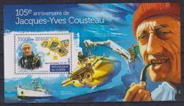 S90. Guinea - MNH - 2015 - Famous People - Cousteau - Bl. - Persönlichkeiten