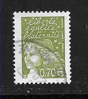 FRANCE 3571 Marianne De Luquet 0.70 € Vert Olive . - Usados