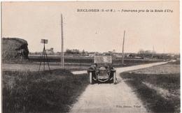 RECLOSES-PANORAMA PRIS DE LA ROUTE D'URY - France