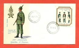 FDC ITALIA - GUARDIA DI FINANZA - MILITARI-SERIE DI 10 BUSTE ANNULLATE FDC- 1974 - F.D.C.