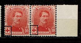 130  Paire  **  Bdf  Type I Et 2 - 1914-1915 Croix-Rouge