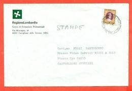 STORIA POSTALE -STAMPATI-MARCHE DA BOLLO - 200 LIRE USATO PER POSTA- 1982 - 6. 1946-.. Repubblica