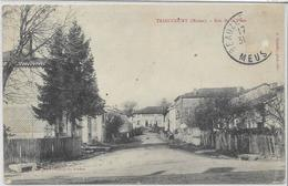 55 TRIAUCOURT . Rue De La Poste , édit : Martin-Golardelle , écrite En 1906 , état Extra - France