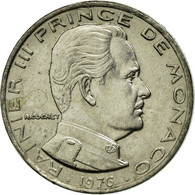 Monnaie, Monaco, Rainier III, 1/2 Franc, 1976, TTB, Nickel, Gadoury:MC 149 - Monaco