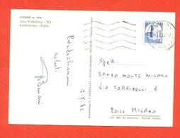 STORIA POSTALE 200 LIRE BOBINE-CARTOLINA DA LIVIGNO PER MILANO - 12/7/1982 - 6. 1946-.. Repubblica