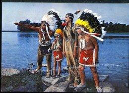 WD270 INDIAN RESERVE , CANADA , CAUGHNAWAGA, THE CHIEF'S SON AND GRANDCHILDREN - America