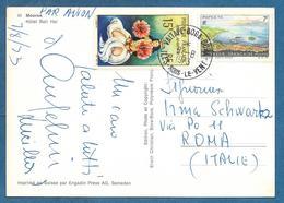 POLYNESIE FRANCAISE 1973 ON CARD MOOREA PAR AVION - Polinesia Francese