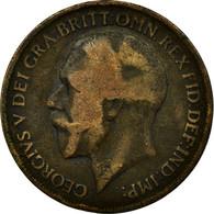 Monnaie, Grande-Bretagne, George V, Penny, 1919, Heaton, TB+, Bronze, KM:810 - 1902-1971 : Monnaies Post-Victoriennes
