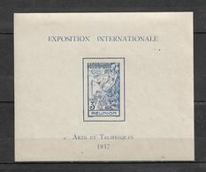 Colonie Bloc N°1  De  Réunion  De 1937  Neufs * - Réunion (1852-1975)