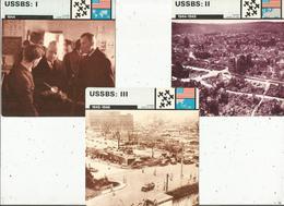 MILITARIA , 1944 , Commission Américaine Du Bombardement Stratégique USSBS , LOT DE 3 FICHES ILLUSTREES - Histoire