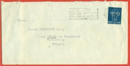 STORIA POSTALE - PERFIN- FP- LETTERA DA TRIESTE PER LA GERMANIA - 1959 - 6. 1946-.. Repubblica