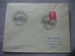 1946 33 Eme Salon Automobile Obliteration Sur Lettre - Marcofilia (sobres)
