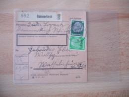 Occupation Alsace  Dammerkirch  Recu Colis Postal  Timbre 2 Hitler - Guerre De 1939-45