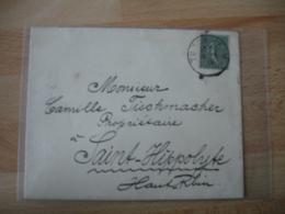 Liberation Alsace Turchheil Cachet Provisoire Francais Sur Lettre Semeuse - Guerre De 1914-18
