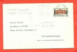 STORIA POSTALE - LETTERA DA NAPOLI PER GENOVA-VAL.POSTALE 31/12/62 - ANNULLATO  IL 10/1/1963-TRANVIE-TRENI-A.T.A.N. - 6. 1946-.. Repubblica