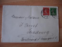 Liberation Alsace  Schlettgtadt Cachet Allemand Sur Timbre Francais  1918 - Guerre De 1914-18