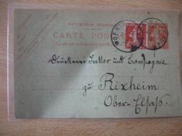 Woerth Sur Sauer Cachet Provisire Francais Sur Lettre Liberation Alsace - Guerre De 1914-18
